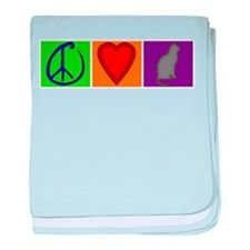 Peace Love Cats - baby blanket