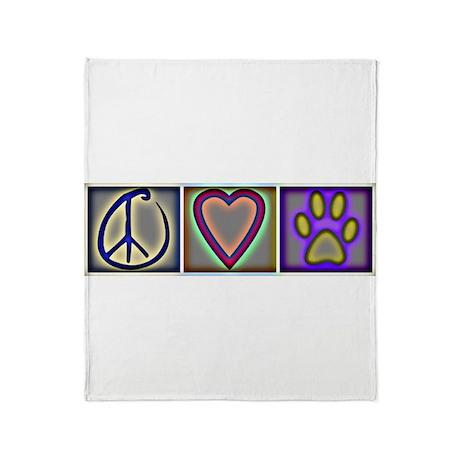 Peace Love Dogs (ALT) - Throw Blanket