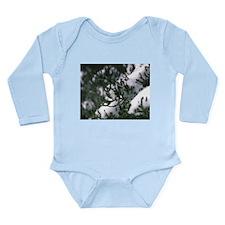 Snowy Evergreen Long Sleeve Infant Bodysuit