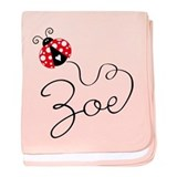 Ladybug Zoe baby blanket