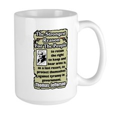 """Jefferson: Keep & Bear Arms"" Mug"