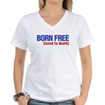 Born Free Women's V-Neck T-Shirt