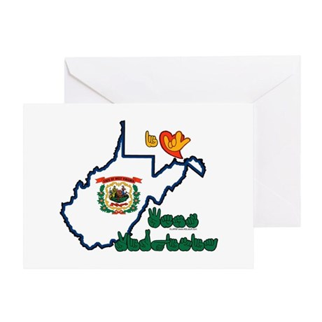 ILY West Virginia Greeting Card