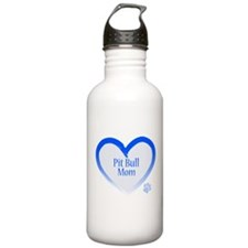 Unique American pit bull terrier mom Water Bottle