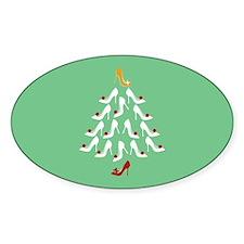 High Heel Shoe Holiday Tree Decal