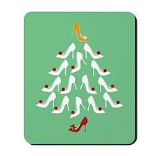 High Heel Shoe Holiday Tree Mousepad