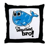 Beached Bro Throw Pillow