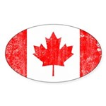 Canadian Flag Sticker (Oval 10 pk)