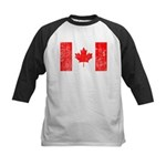 Canadian Flag Kids Baseball Jersey