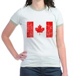 Canadian Flag Jr. Ringer T-Shirt