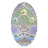 &quot;Yggdrasil, The World Tree&quot; Oval Decal