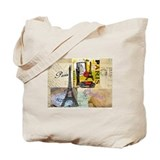 Paris &amp; Eiffel Tower Tote Bag