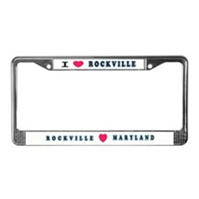 I Love Rockville License Plate Frame