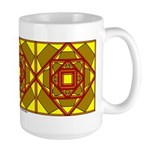 Brown Shield Design Large Mug