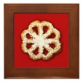 Scandanavian Rosette Cookie Framed Tile