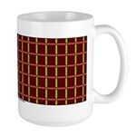 Orange And Yellow Latticework Large Mug