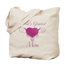 World's Greatest Mom (Heart) Tote Bag
