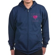 World's Greatest Godmother (Heart) Zip Hoodie