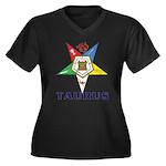 OES Taurus Sign Women's Plus Size V-Neck Dark T-Sh