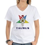 OES Taurus Sign Women's V-Neck T-Shirt