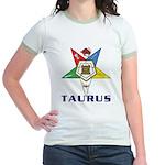OES Taurus Sign Jr. Ringer T-Shirt