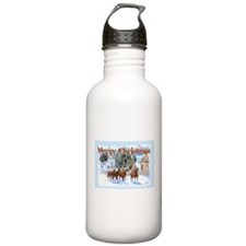 Riding Home for Christmas Water Bottle