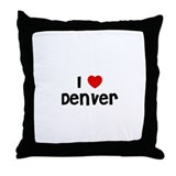 I * Denver Throw Pillow