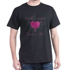World's Greatest Teacher's Aid (Heart) T-Shirt