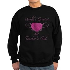 World's Greatest Teacher's Aid (Heart) Sweatshirt
