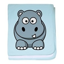 Cute Hippo baby blanket