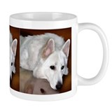 White German Shepherd Dog Small Mugs