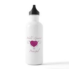 World's Greatest Principal (Heart) Sports Water Bottle