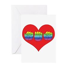 Mom Inside Big Heart Greeting Card