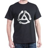 Record Spindle Adapter Black T-Shirt