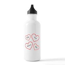 Love & Hearts Water Bottle
