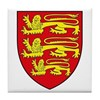 England Coat of Arms Tile Coaster