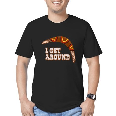 I Get Around Mens Fitted Dark T-Shirt