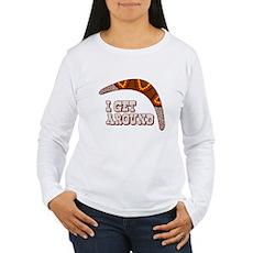 I Get Around Womens Long Sleeve T-Shirt
