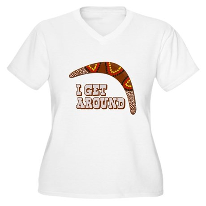 I Get Around Plus Size V-Neck Shirt