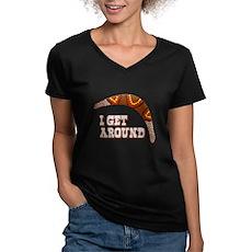 I Get Around Womens V-Neck T-Shirt