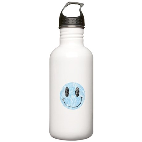 Vintage Blue Smiley 1 Stainless Water Bottle 1.0L