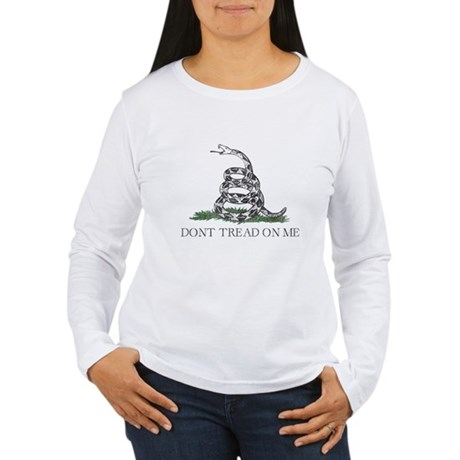 Don't Tread On Me Womens Long Sleeve T-Shirt