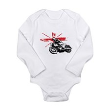 UNION JACK CAFE RACER Long Sleeve Infant Bodysuit