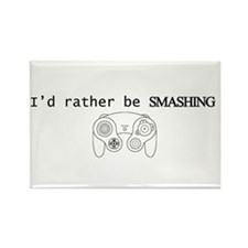 I'd rather be Smashing Rectangle Magnet (10 pack)