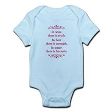 In wine there is truth.... Infant Bodysuit