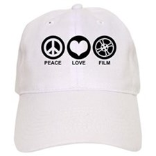 Peace Love Film Baseball Cap