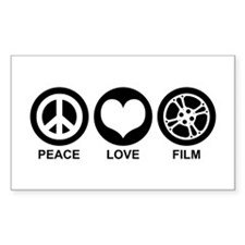 Peace Love Film Decal