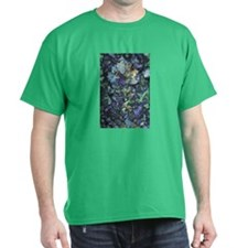 Digi Wild Flower Black T-Shirt