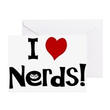I Love Nerds Greeting Cards (Pk of 10)