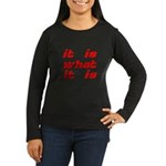 It Is What It Is Women's Long Sleeve Dark T-Shirt